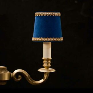 Royal velvet blue chandelier lampshade with Lezard
