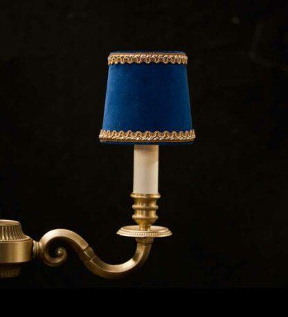 Royal velvet blue chandelier lampshade with Lezard