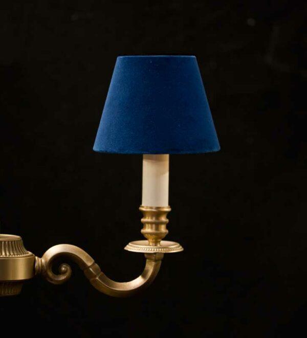 Klassieke Fluwelen Kroonluchter Lampenkappen - Royal Blue