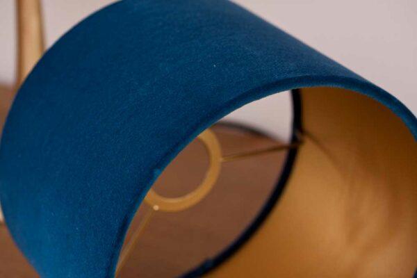 Detail Velvet Cylinder Lampshade color Royal Blue
