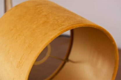Detail of Velvet Cylinder Lampshades color Royal Ocre