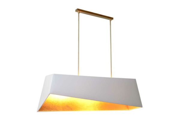 Table Suspension Special design Trapezium White/Gold