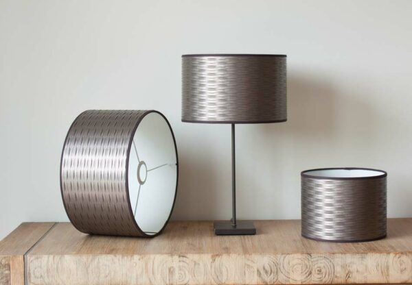 Tress Taupe Leather Cylinder