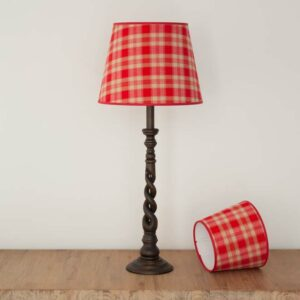 Empire lampshade in red tartan - MorzCherry- 61060373