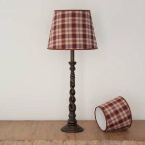 Empire Lampshade in Brown tartan - MorzBruin-61060222
