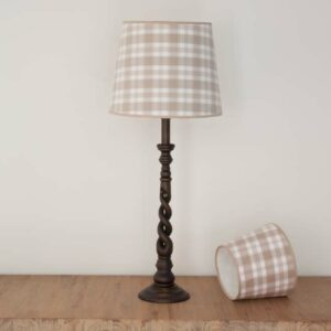 Empire lampshade in Taupe tartan - MorzTaupe- 61060210