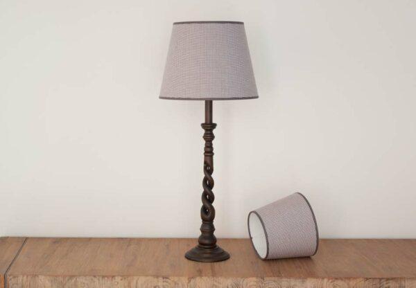 Empire Lampenkap met kleine grijze ruitjes - Royans Grey 519