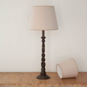 Empire lampshade with small taupe checks - Royans Taupe 210